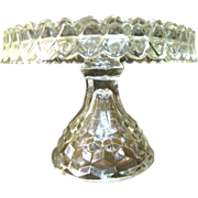 Fostoria American Crystal Glass Pedestal Cake Stand with Rum Well