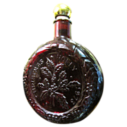 Wheaton Glass Christmas 1973 Handmade Decanter or Bottle