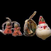SALE Three Mid Century Japan Tree Ornaments (Lot 4)