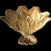 SALE Huge Vintage Bohemian Retro Centerpiece Crystal Bowl