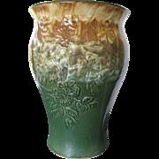 "Huge 14"" Roseville Robinson Ransbottom Floor Vase, Umbrella Stand"