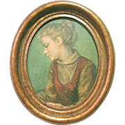 SALE Beautifully Framed Reofect Print of the Young Pupil by Pizzanelli