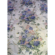 7 1/2 Yd Bolt End of 11 Color Screen Printed Floral Cotton