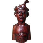 SALE Mid Century Hand Carved Rosewood Sculpture from Bali