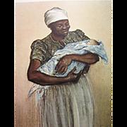 Original Elizabeth O'Neill Verner Signed Print, Blue Baby