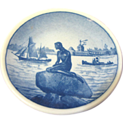 Royal Copehagan Butter Pat, Mermaid on Rock
