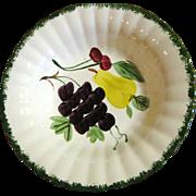 "SALE Nice Large Blue Ridge Pottery 9 3/8"" Fruit Bowl"
