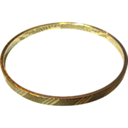 Nice Vintage Gold-tone Bangle by Monet