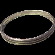 SALE Elegant Vintage IC Handwrought Sterling Silver Reeded Bracelet