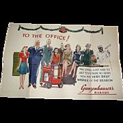 SALE WW2, Folding Trade Christmas Card, Gunzenhauser's Bakery, Super Graphics!