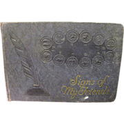 """Circa 1935 """"Signs of my Friends"""" Horoscope Autograph Book"""