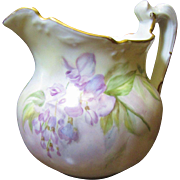 SALE Beautiful Limoges Small Hand Painted Pitcher