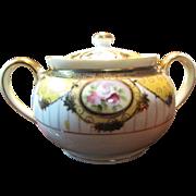 SALE Beautiful Noritake Nippon Hand Painted Covered Sugar Bowl
