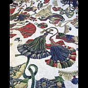 Superb 24 Yard Bolt End of Vintage Trompe L'oeil Tassel Fabric by Portfolio Textiles