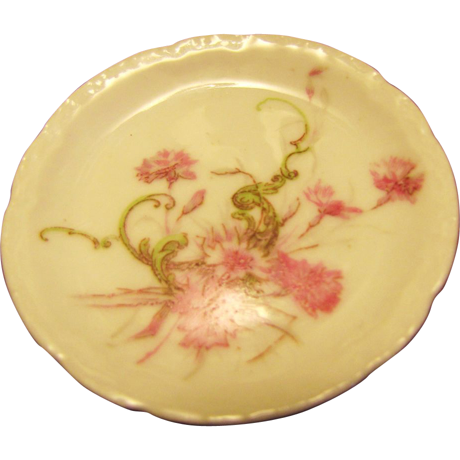 pretty vintage limoges floral butter pat from