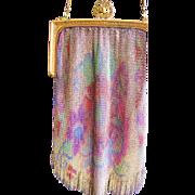 SALE Finest 1920's Dresden Rainbow Mesh Evening Bag