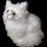 SALE Darling Real Fur Vintage Kitten, Perfect Doll Pet