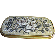 Victorian Beadwork Riser or Picture, Lily Design