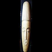 """Massive 23"""" Vintage Hand Carved Tribal Mask Sculpture from Ghana"""
