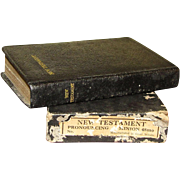 Vintage New Testament Bible w/Original Box, Pocket Size Dated December 25, 1949, Great Britain