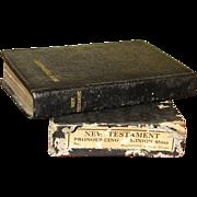 Vintage New Testament Bible w/Original Box, Pocket Size Dated December 25, 1949, Great Britain