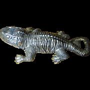 Vintage Silver Plated Gecko Lizard Bottle Opener