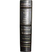 The Framing & The Fathers of the US Constitution by Max Farrand, Leather Bound, Like New