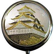 Japanese Art Of Chokin Oriental Temple Pill Box