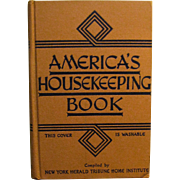 1943, America's HouseKeeping Book Compiled by N.Y. Herald Tribune Home Institute HB