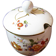Royal Crown Derby Derby Floral Porcelain Jelly Jar with Lid