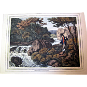 """1834 """"Fly-Fishing"""" Hand Colored Engraving After Samuel Howitt (one of four antique H"""