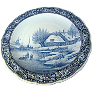 "16"" Blue Delft Charger by Regout Royal Sphinx, Maastrich Holland"