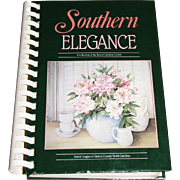 SOLD Southern Elegance (1988 Hardcover) Junior League of Gaston County NC; 2nd Printing