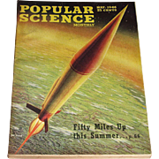 May 1946 Popular Science Magazine- Rocket Cover, XB-36 Cover Painting Ray Pioch Fifty Miles ..