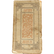 1906, Nature Themes by Henry D. Thoreau, Mosher Press, 1st Edition