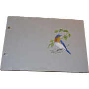 The Bluebird Sketchbook, A limited edition 188 of 250 by Georgia Kimble, hand water colored ..