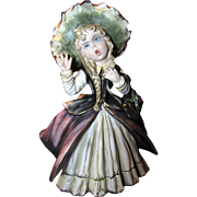 "SALE Huge 11"" Whimsical Hand Painted Capodimote Pottery Figurine Signed Hita"
