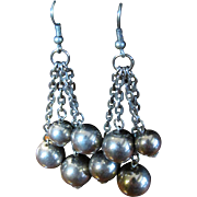 SALE Gorgeous Large Ball Tassel Vintage Chandelier Earrings