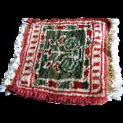 SALE Doll Size Oriental Wool Rug, Vintage Salesman's Sample No 3