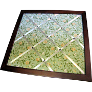 Nice Floral Fabric Wall Board with Crossed Ribbon Holders and Wooden Frame