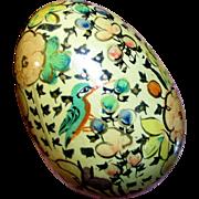 Vintage Hand Painted Wooden Kashmir Darning or Decorative Egg