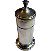 Elegant Silver Plated Toothpick Holder with Retracting Interior