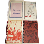 4 Vintage Cookbooks - The Key to Kappa Cookery, Mount Pleasant's Famous Recipes, What's ...