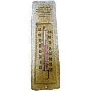 SALE Great Old Advertising Thermometer for Carolina Metal Works of Newberry S.C.
