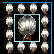 Exceptional 1930s French Art Deco Lamp by Pierre d'Avesn. MINT Condition