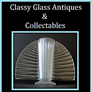 SOLD Tremendous 1930s Art Deco Large Crystal Glass Vase by Pierre d'Avesn for Verlys France