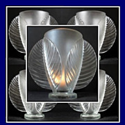 SOLD VERY RARE French Art Deco HUGE Crystal Glass Vase by Pierre d'Avesn for Verlys c1930s.