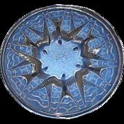 "SOLD Sensational French Art Deco 15"" Opalescent Glass Bowl HIRONDELLES pattern by Pierre d'A"