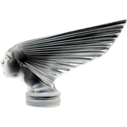 "An Immaculate 'Victoire' Post War Glass Car Mascot ""Spirit of The Wind"" Designed by"