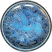 SALE PENDING MINT CONDITION 1930s French Art Deco 15 inch opalescent glass charger by Pierre d